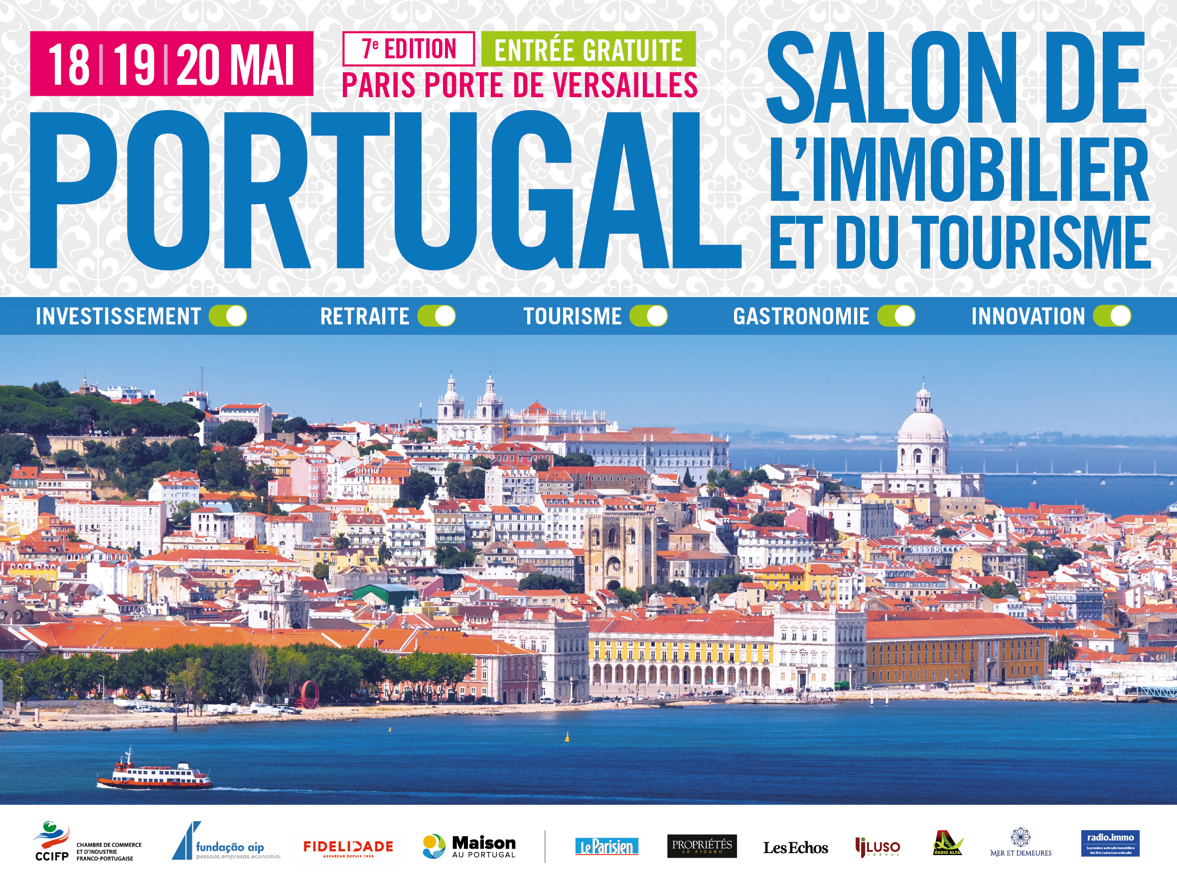 Septi me edition du salon de l 39 immobilier et du tourisme portugais paris - Salon immobilier portugal ...